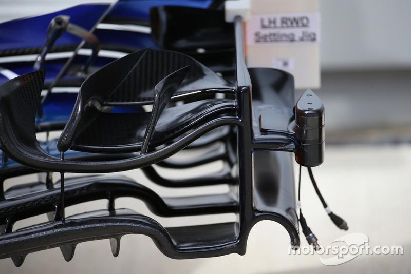 Cámara en el alerón delantero del McLaren MCL33