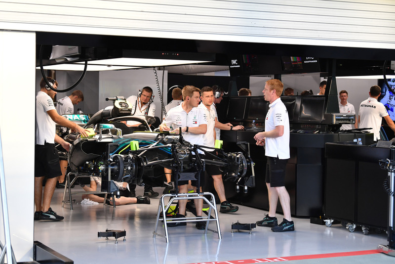 Mercedes-AMG F1 W09 in the garage
