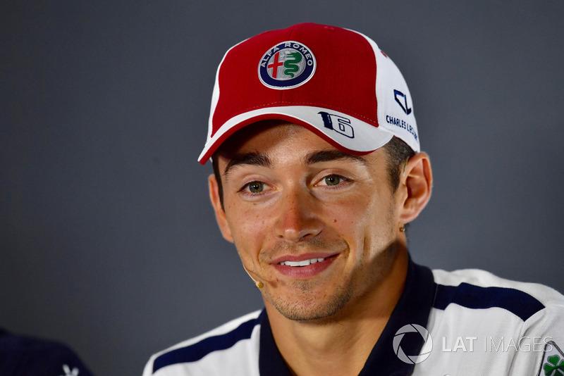 Charles Leclerc, Sauber F1 Team, en rueda de prensa