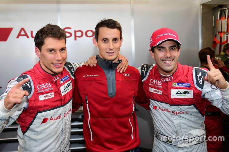 Polesitters #8 Audi Sport Team Joest Audi R18 e-tron quattro: Lucas di Grassi, Loic Duval, Oliver Jarvis