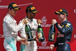 Подиум (слева направо): Нико Росберг, Mercedes AMG F1; Льюис Хэмилтон, Mercedes AMG F1; Макс Ферстап