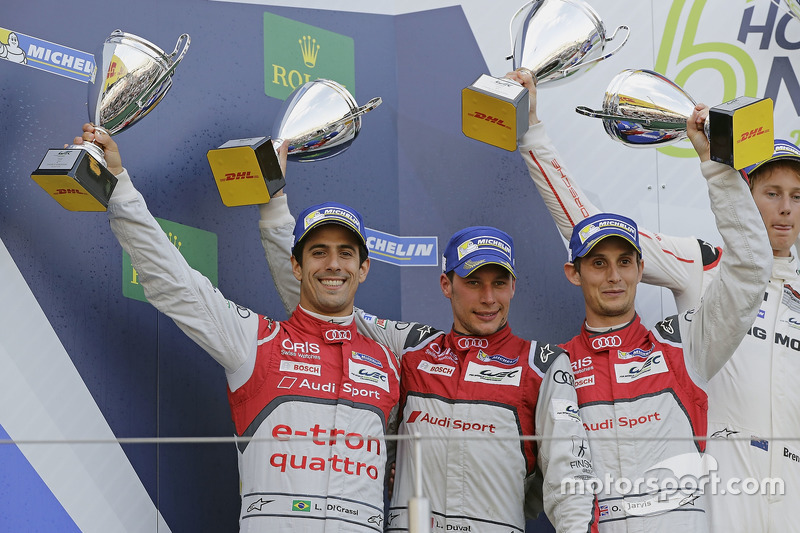 2. #8 Audi Sport Team Joest, Audi R18 e-tron quattro: Lucas di Grassi, Loic Duval, Oliver Jarvis
