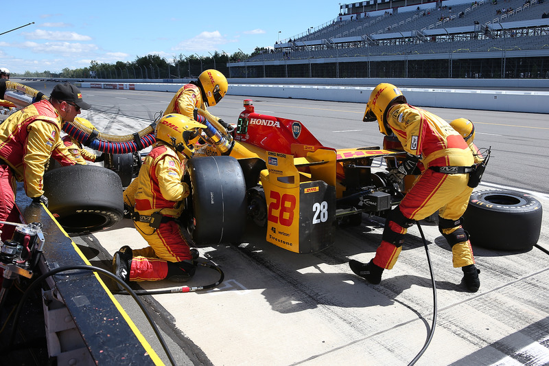 Pit stop di Ryan Hunter-Reay, Andretti Autosport Honda