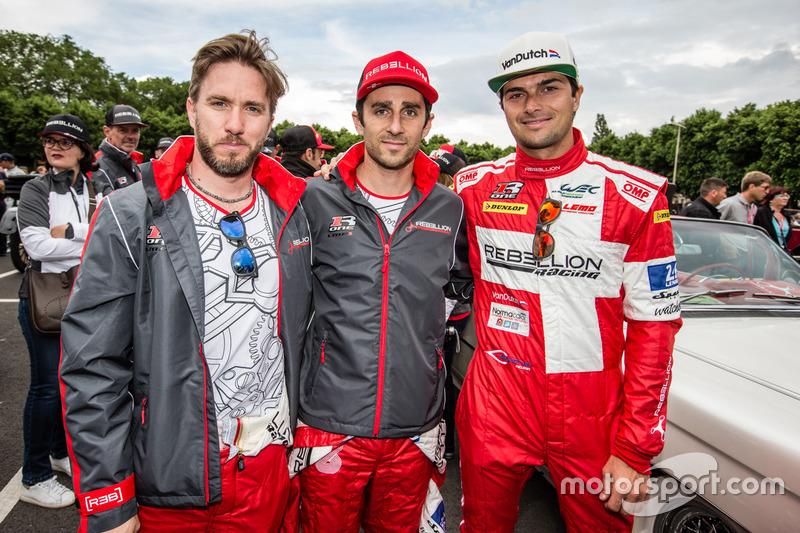 #12 Rebellion Racing Rebellion R-One AER: Nick Heidfeld, Nicolas Prost, Nelson Piquet Jr.