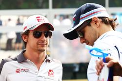 Esteban Gutiérrez, Haas F1 Team en el desfile de pilotos