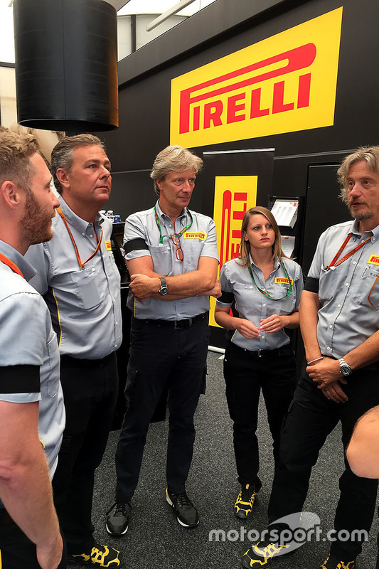 Pirelli staff in Spa-Francorchamps