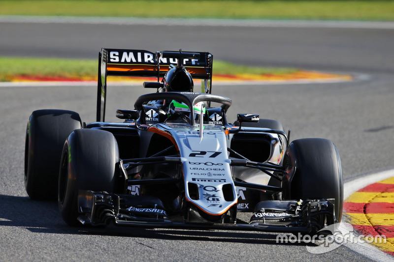 Nico Hulkenberg, Sahara Force India F1 VJM09 con il dispositivo Halo installato sulla monoposto
