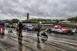 Autos frenados en el pit lane, Marco Andretti, Herta - Andretti Autosport Honda