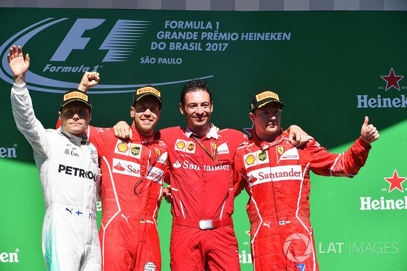 2017: 1. Sebastian Vettel, 2. Valtteri Bottas, 3. Kimi Räikkönen