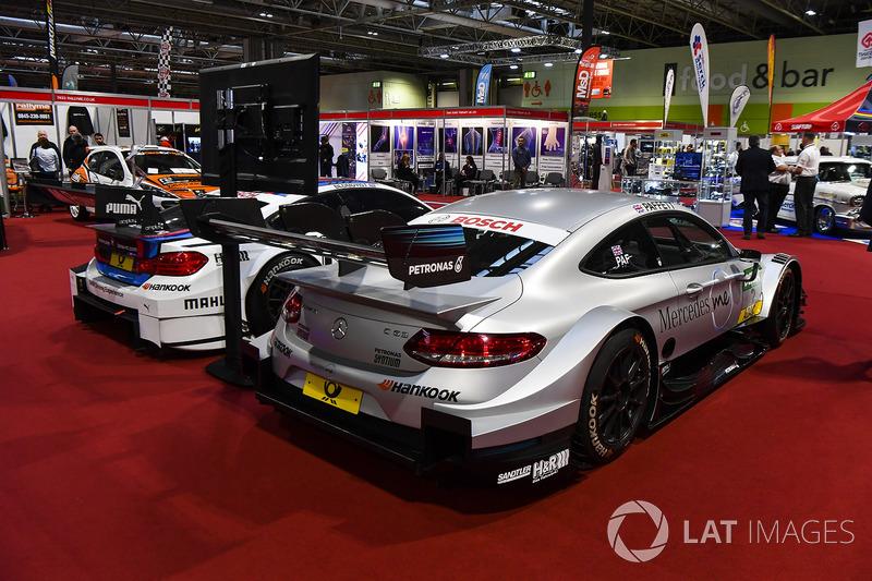McLaren and BMW DTM cars on display