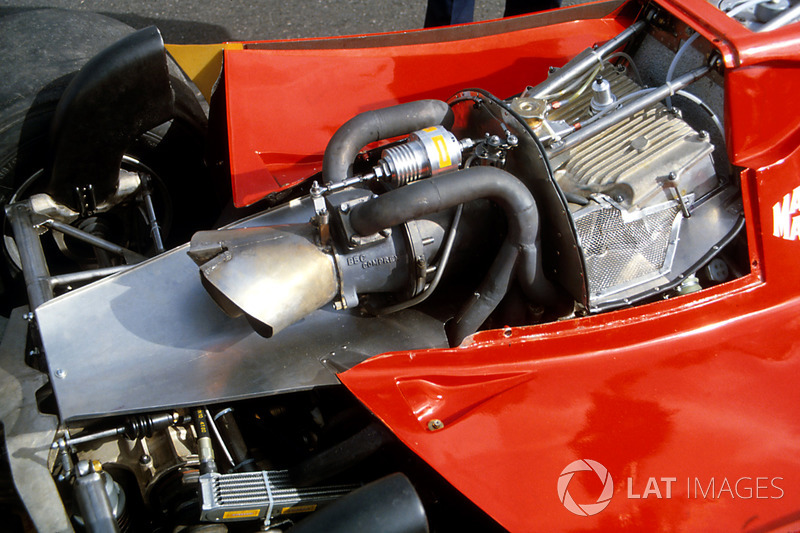 The turbocharger fitted to the Ferrari 126CK