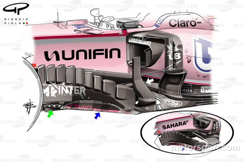 Аэродинамический элемент Force India F1 VJM10, Гран При Мексики