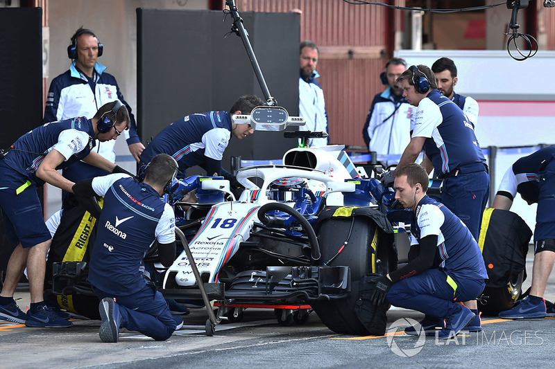 Лэнс Стролл, Williams FW41 pit stop