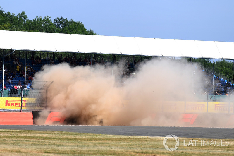 El accidente de Brendon Hartley, Scuderia Toro Rosso STR13