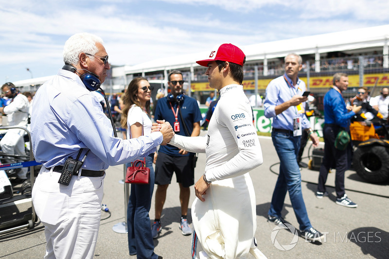 Lawrence Stroll wishes his son Lance Stroll, Williams Racing, good luck on the grid