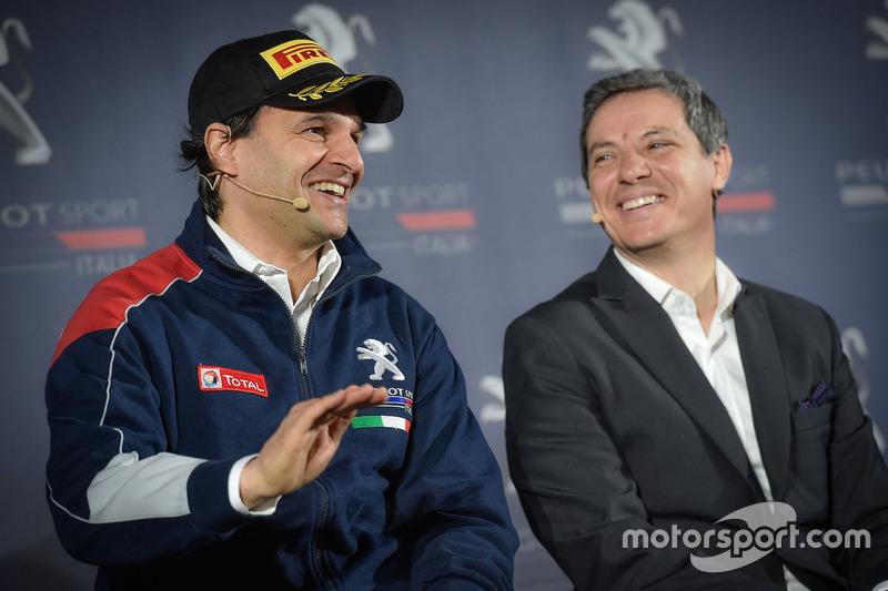 Paolo Andreucci, Peugeot Sport Italia e Massimo Roserba, Direttore Generale di PSA Italia
