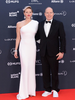 Prince Albert II of Monaco and his wife Charlene, Princess of Monaco