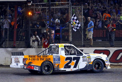Chase Briscoe, ThorSport Racing, Ford F-150 Ford celebrates his win