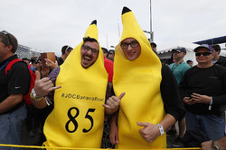 The #85 JDC/Miller Motorsports BananaBoat BananaMen take the fan thing to a whole new level