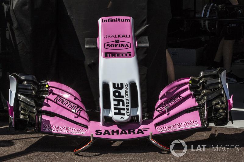 Force India VJM11 nariz y alerón delantero