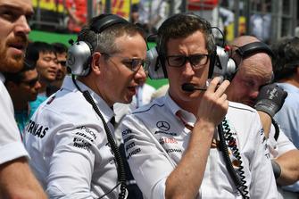 Mercedes-AMG F1 on the grid