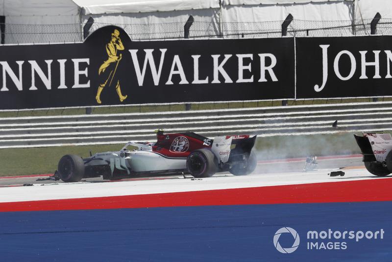 GP Amerika Serikat - Romain Grosjean/Charles Leclerc (balapan)