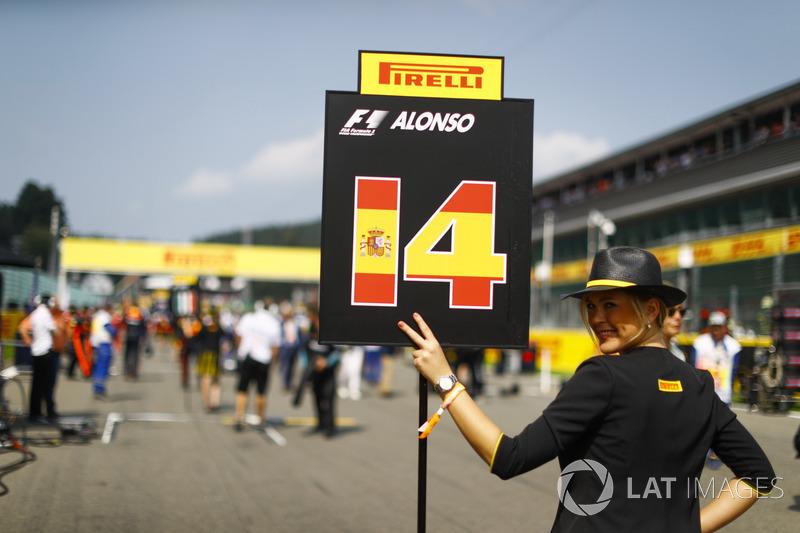 Chica de la parrilla de Fernando Alonso, McLaren