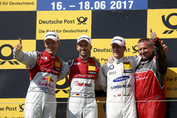 Podium: 1. René Rast, Audi Sport Team Rosberg, Audi RS 5 DTM; 2. Mattias Ekström, Audi Sport Team Ab