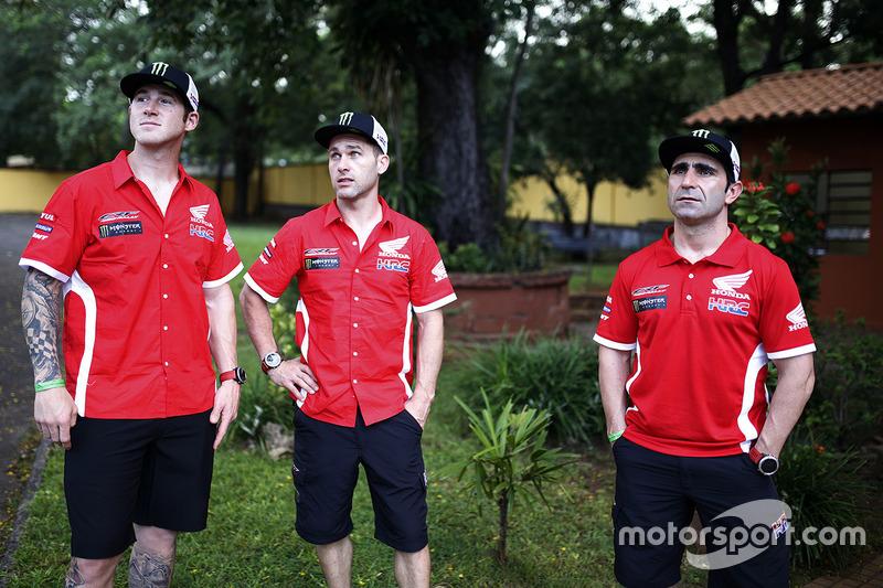 Ricky Brabec, Michael Metge, Paulo Goncalves, Monster Energy Honda Team