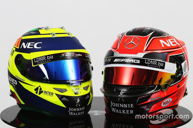 Шоломи Серхіо Переса та Естебана Окона, Sahara Force India F1 Team
