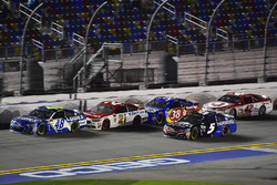 Jimmie Johnson, Hendrick Motorsports Chevrolet, Ryan Blaney, Wood Brothers Racing Ford, Kasey Kahne, Hendrick Motorsports Chevrolet