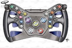 Red Bull RB6 steering wheel