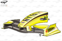 Jordan EJ15B 2005 front wing and nose