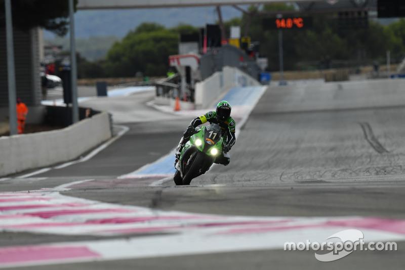 DNF - #11 Team SRC Kawasaki, Kawasaki: Mathieu Gines, Randy de Puniet, Fabien Foret