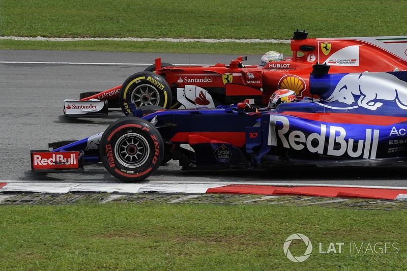 П'єр Гаслі, Scuderia Toro Rosso STR12, Себастьян Феттель, Ferrari SF70H