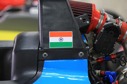 car detail with Indian flag