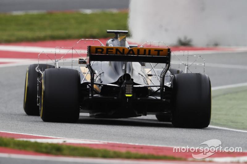 Nico Hülkenberg, Renault Sport F1 Team RS17, mit Messgeräten