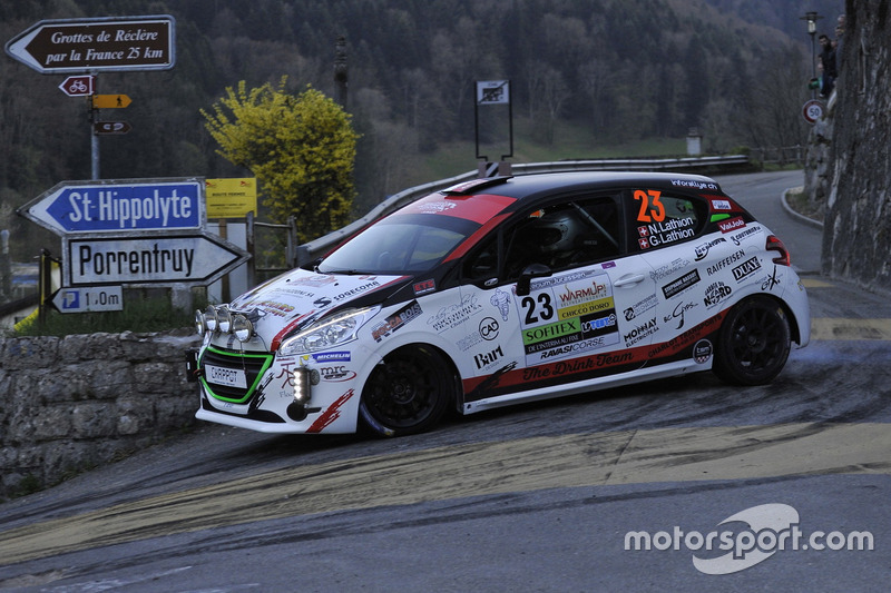 Nicolas Lathion, Gaëtan Lathion, Peugeot 208 R2, Lathion Rally Team
