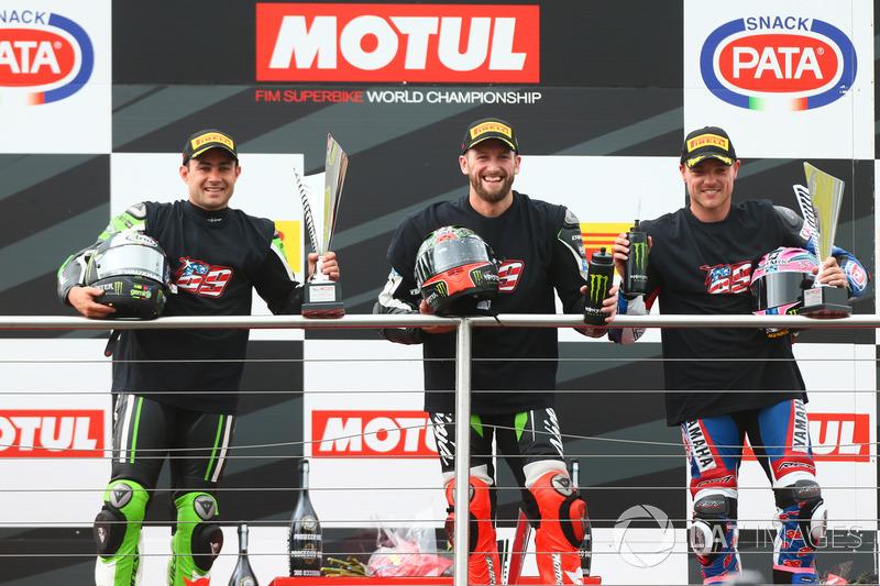 Podio: segundo lugar Leon Haslam, Puccetti Racing