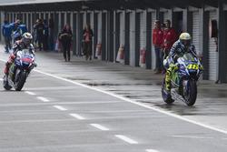 Valentino Rossi, Yamaha Factory Racing y Jorge Lorenzo, Yamaha Factory Racing