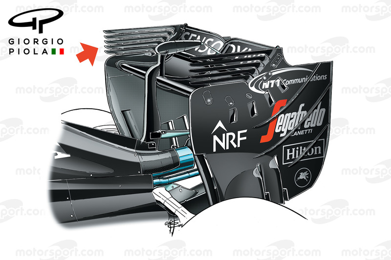 McLaren MP4/31 rear wing, Malaysian GP