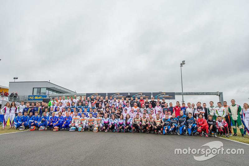 Group drivers photoshoot