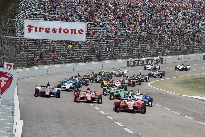 Старт: Карлос Муньос, Andretti Autosport Honda leads
