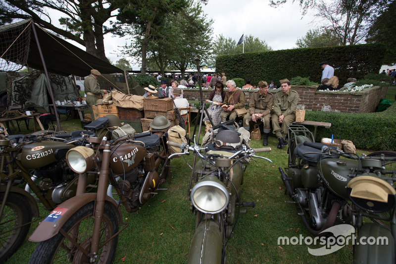 Military Motorcycle Scene