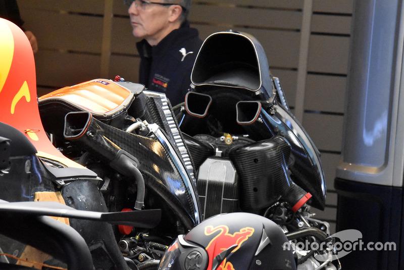 Cambio de motor en el Red Bull Racing RB14