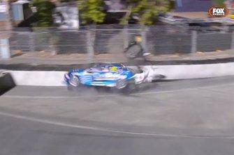 Macauley Jones, Brad Jones Racing crash