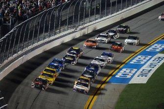 Kyle Busch, Joe Gibbs Racing, Toyota Camry M&M's Chocolate Bar, Denny Hamlin, Joe Gibbs Racing, Toyota Camry FedEx Express