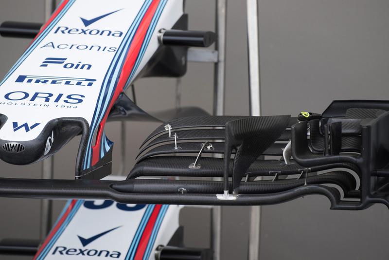 Williams FW41, dettaglio dell'ala anteriore