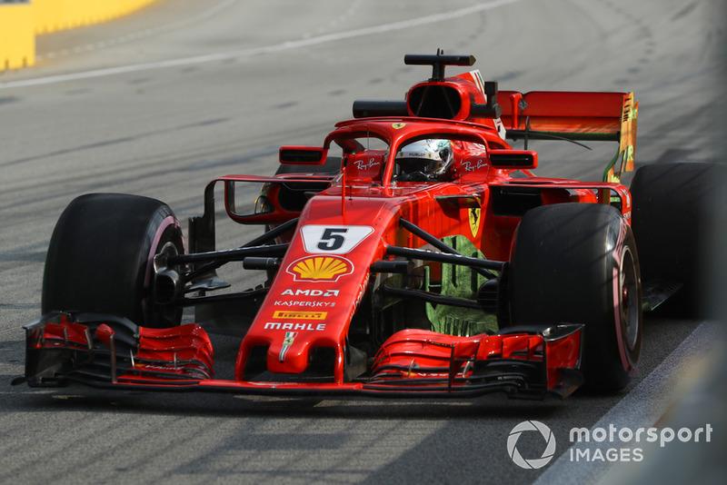 Sebastian Vettel, Ferrari SF71H with aero paint