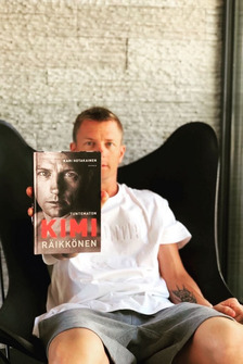 Kimi Raikkonen with his biography